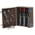 Estuche 3 botellas Vino con 6 accesorios Sommeliere