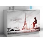 Aparador Wezen Torre Eiffel 3 Puertas Blanco Ref.H004-RDP