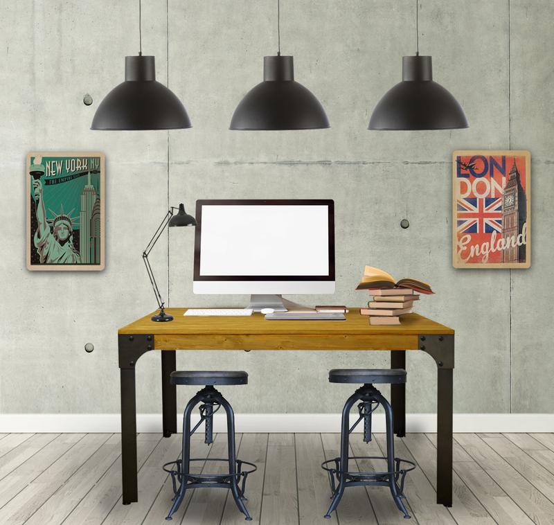Mesa de estudio en madera vintage boston - Mesas de estudio ...