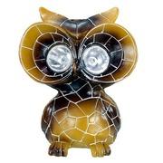 Lámpara Solar Búho en Resina 12 x 15 x 17 centímetros