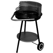 Barbacoa Carbón con Ruedas Gris Negro 47 x 70 x 78 centímetros