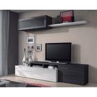 Conjunto muebles Salón TV Nexus Blanco Brillo Gris Ceniza