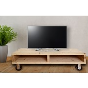 Mesa Palet TV con 4 Ruedas de Hierro 55 x 115 x 28