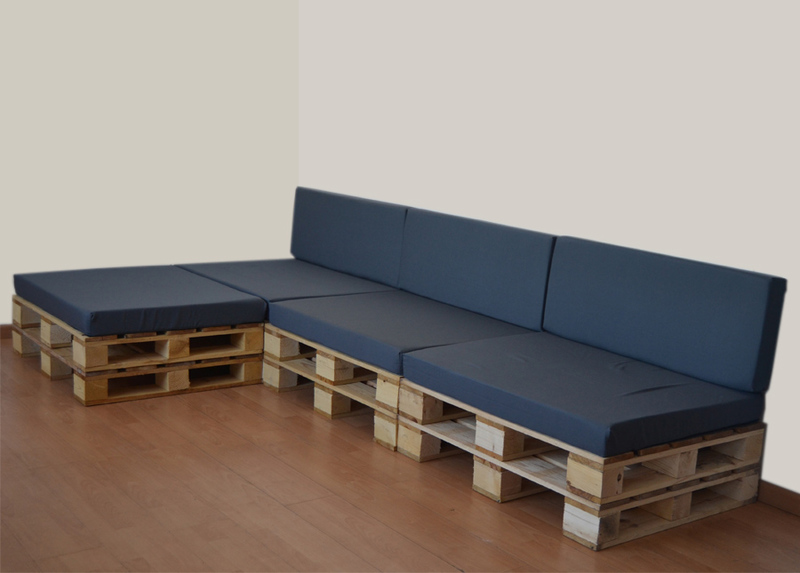 Cojines para muebles con palets 80 x 100 - Cojines para sillas de jardin ...