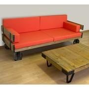 Sofá con Ruedas de Fundición Bristol 80 x 206 x 80 centímetros
