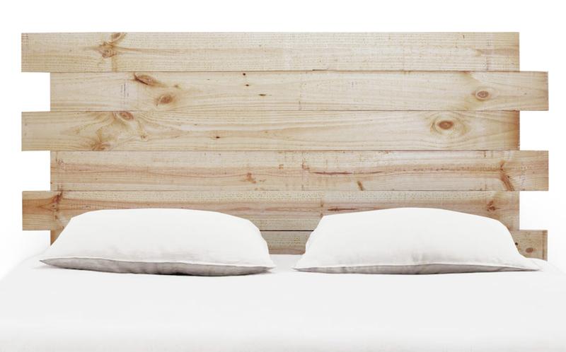Cabecero para cama asim trico en madera natural de pino - Cabeceros de cama vintage ...