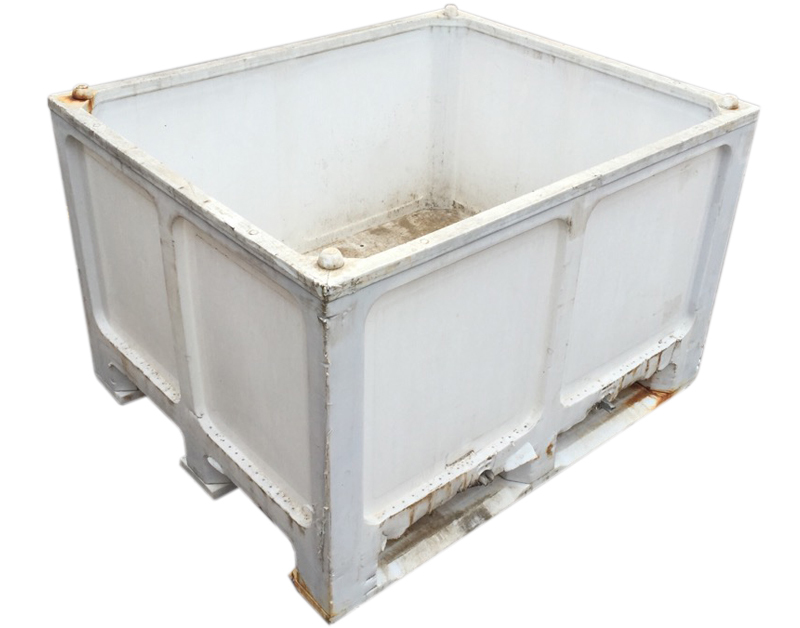 Contenedor big box usado con 3 patines 1200 x 1000 x 765 - Precio de contenedor ...