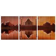 Cuadro Panorámico Taj Mahal de Madera 147x60cm