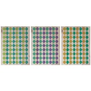 Cuadro de Madera Panorámico 147x60cm Rombos de Colores