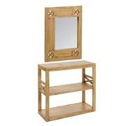 Recibidor con Espejo IOS en Madera 35 x 85 x 80 cm