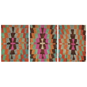 Cuadro Panorámico de Madera Geometric Color 147x60cm