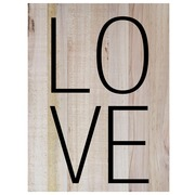 Cuadro de Madera Palabra Love 45x60cm