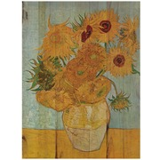 Cuadro de Madera Girasoles Van Gogh 45x60cm