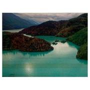 Cuadro de Madera Horizontal Lago Azul 60x45cm