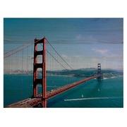 Cuadro Horizontal de Madera San Francisco 60x45cm
