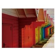Cuadro Horizontal de Madera 60x45 Casitas de Colores