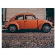 Cuadro Horizontal de Madera Beatle Rojo 60x45cm