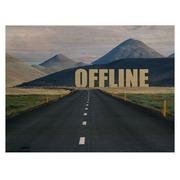 Cuadro Horizontal de Madera Offline 60x45cm