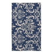 Alfombra Impresión en Algodón Azul 90 x 150cm