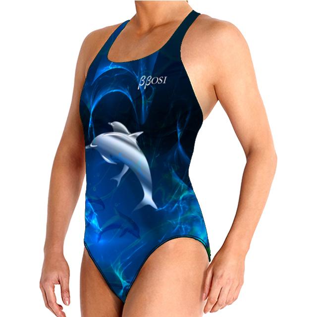 Bañador Natación para Mujer BBOSI Confort Dolphins Woman Outlet
