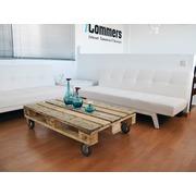 Palet Mesa de Centro con Ruedas 80x120 Tipo 2