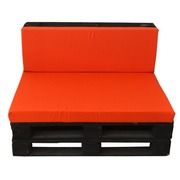 Sofa con Palets 80 x 120 Color Negro Ref.SPN80120