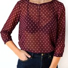Camiseta blusa Roja Transparente