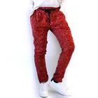 Pantalon en tonos granates con goma