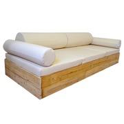 Sofa Balinesa Recubierto de Madera 106 x 246 cm