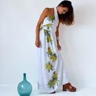 Vestido Blanco Largo para Mujer Palm tree