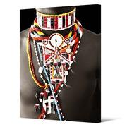 Cuadro Collar Etnico Digital Pintado 3 x 100 x 140 cm