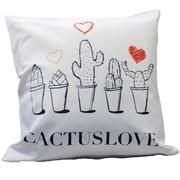 Cojín Estampado Cactus Love 45 x 45 x 15 cm