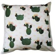 Cojín Estampado Cactus Verdes 45 x 45 x 15 cm