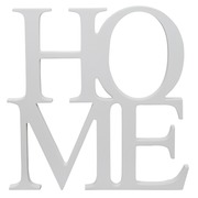 Palabra Home en DM Vertical Blanco 30 x 30 cm