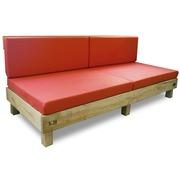 Sofa Palet Nature en Madera Reciclada Natural 80 x 200 x 38 cm