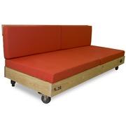 Sofa Nature Palet en Madera con Ruedas 80 x 200 x 36 cm