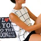 Camisa con estampado rayas blanco y negro