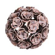Bola Decorativa con Rosas en Metal 24 x 24 x 24 cm