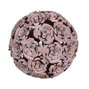 Bola Decorativa con Rosas 18 x 18 x 18 cm