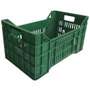 Caja Agrícola en PEHD Verde Usada 30 x 50 x 26.5 cm