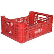 Caja Plastica Agrícola Usada Roja 32.6 x 50 x 20 cm