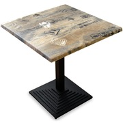 Mesa Bar Cuadrada Industrial Docks 70 x 75.2 cm