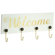 Percha de Pared Welcome en Madera 8 x 60 x 28 cm