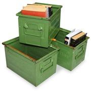 Cajas Metalicas 215x320x200 Usadas Color Verde