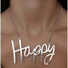 Collar plateado happy