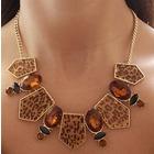 Collar cristales animal print