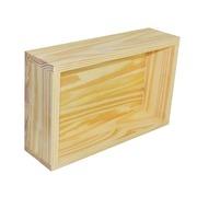 Caja Decorativa de Madera Natural 25 x 40 x 11 cm