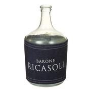 Jarrón Botella de Vidrio Transparente 13 x 13 x 25 cm