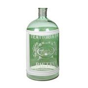 Jarrón Botella de Vidrio Verde Pietro 25 x 25 x 53 cm