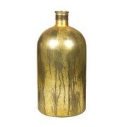 Jarrón Botella de Vidrio Color Dorado 25 x 25 x 53 cm